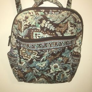 Blue and brown paisley Vera Bradley backpack